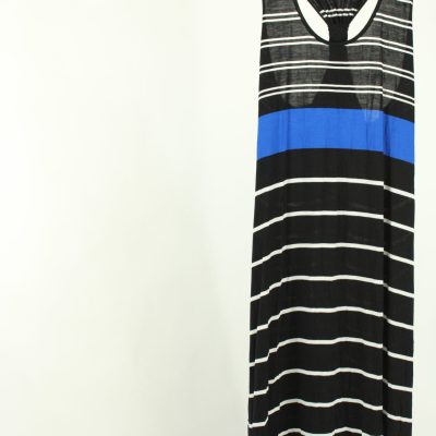 Calvin Klein Striped Maxi Dress | Size 12