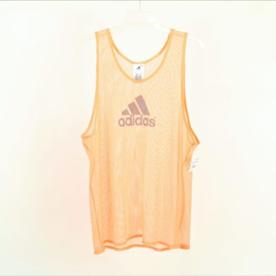Adidas Orange Mesh Top | Size L