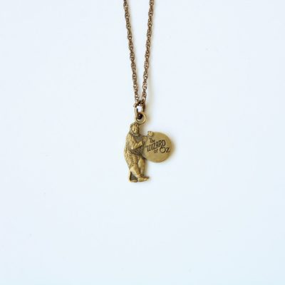 Rare The Wizard Of Oz Cowardly Lion Necklace 1/10-10K 1993 Turner Ent.