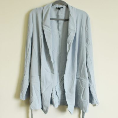 NEW Roz & Ali Light Blue Summer Cardigan Blazer | Size L