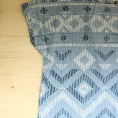 Old Navy Chambray Patterned Top | Size S