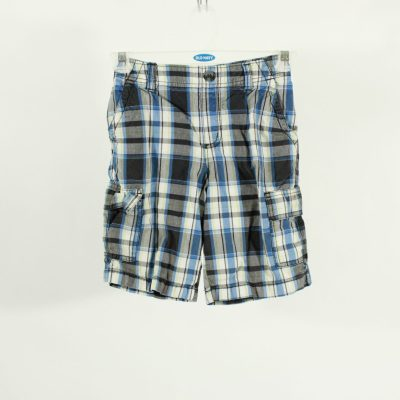 Sonoma Blue & Grey Plaid Shorts | Size 7