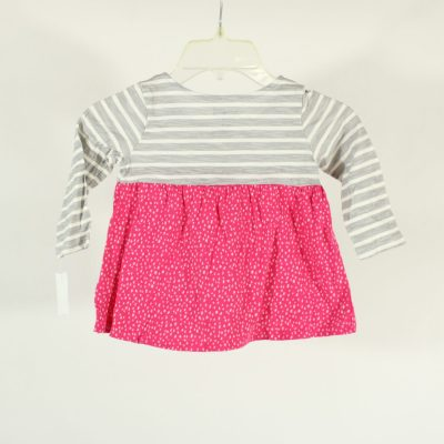 Jumping Beans Pink & Grey Patterned Top | Size 18M