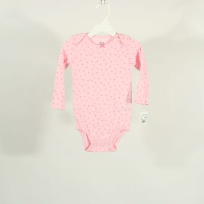 Child Of Mine By Carter's Pink Flowered Long Sleeve Onesie | Size 6-12M
