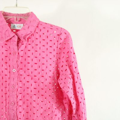 D&Co. Pink Eyelet Top | Size XS