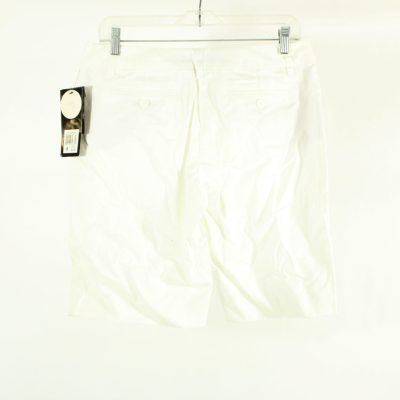 NEW Daisey Fuentes City Fit White Bermuda Shorts | Size 6