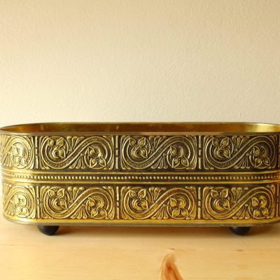Guildcraft Footed Gold Tin Container
