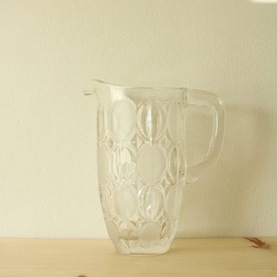 Heavy Glass Circle Pattered Pitcher