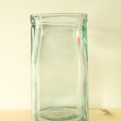 Tall Glass Square Vase | 12
