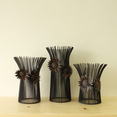 Bronze Wire Candle Holders | Set Of 3
