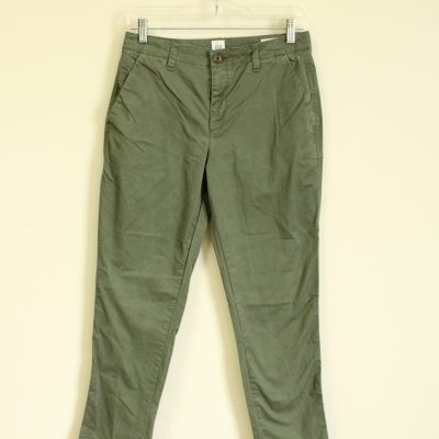 GAP Girlfriend Chino Olive Green Pants | Size 2