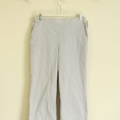 Alfred Dunner Cotton Blend Striped Summer Pants | Size 12