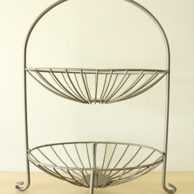 Metal Tiered Fruit Basket Stand