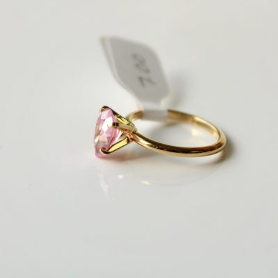Pink Pear Shaped Ring | Size 7