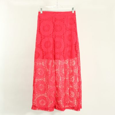 NEW Charlotte Russe Pink Lace Skirt | Size M