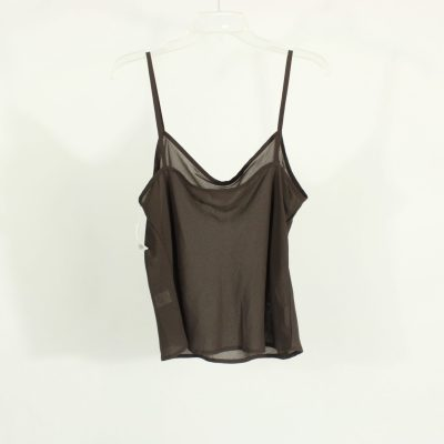 Covington Brown Sheer Top | Size 12 (L)
