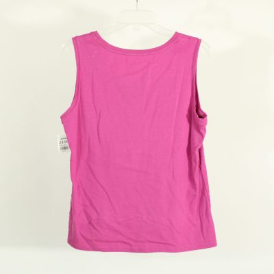 Charter Club Pink/Purple Cotton Top | Size L