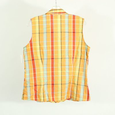 Liz Claiborne Orange Plaid Summer Top | Size 12 (L)