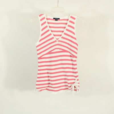 Nautica Pink Striped Knit Top | Size M
