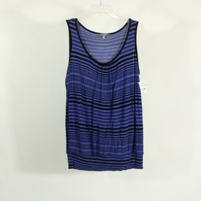 Daisy Fuentes Blue Striped Tank | Size L