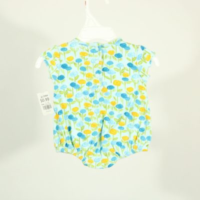 Miniwear Blue & Yellow Flower Onesie | Size 0-3 Months