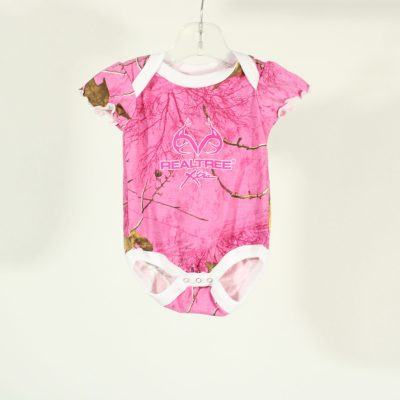 RealTree Pink Camo Onesie | Size 0-3 Months