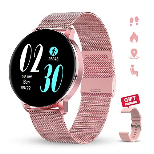 Smart Watch, KALINCO Fitness Tracker with Heart Rate Monitor, Blood Stress, Blood Oxygen, and Monitoring