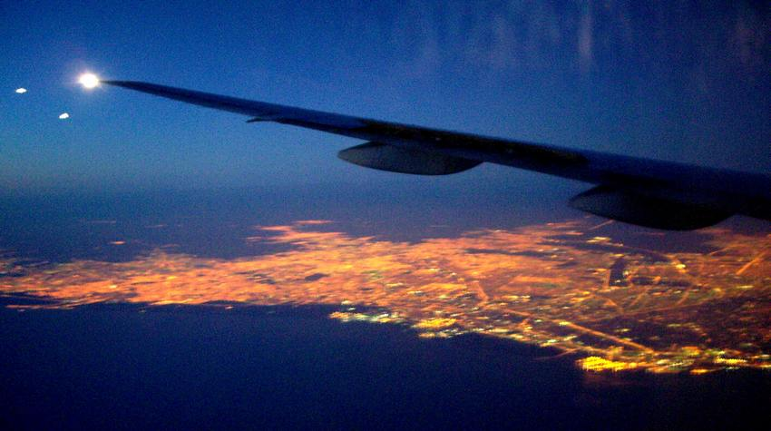Sicht auf Buenos Aires kurz vor Landung