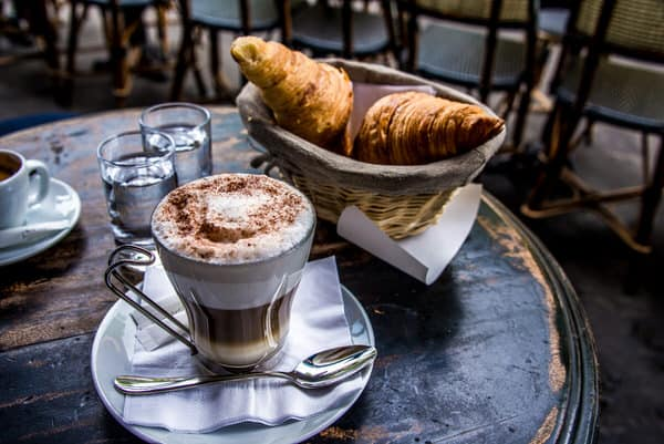 retiring overseas+capuccino-croissants
