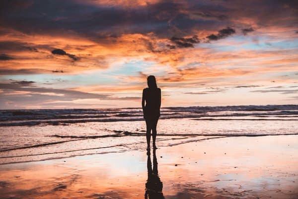 midlife transitions+woman-seashore
