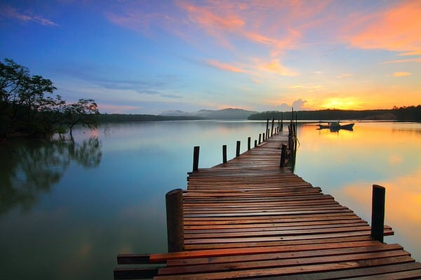 midlife transitions+sunrise-dock