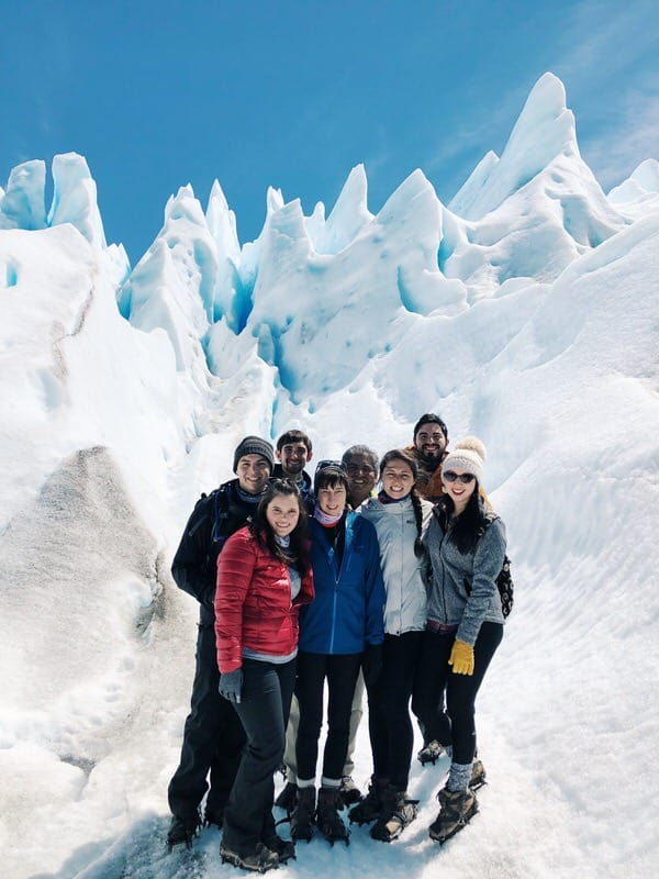 vacation with adult kids+glacier