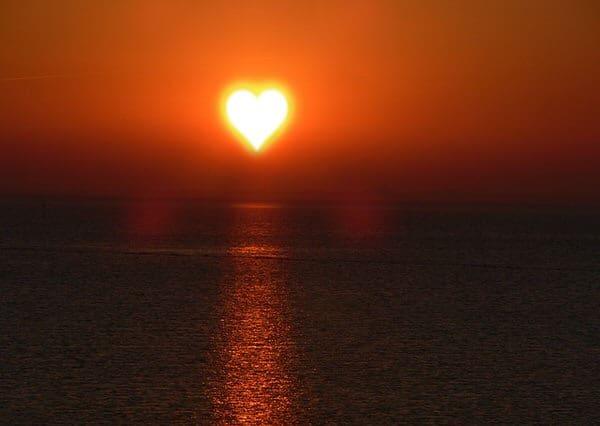 SAD and menopause+sunset-heart
