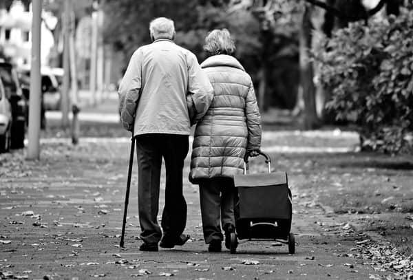 keys to aging in place+elderly-couple-walking