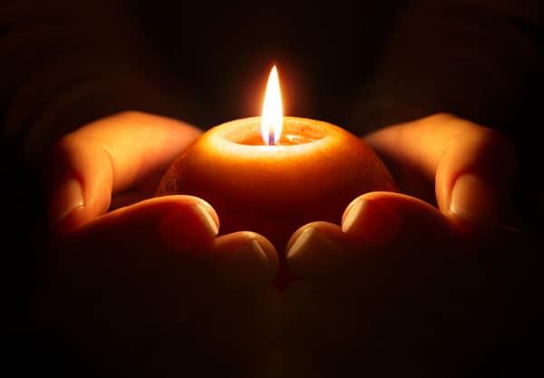 cultivate gratitude+candle