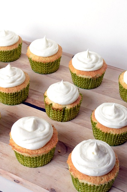 Lime Cupcakes With Cream