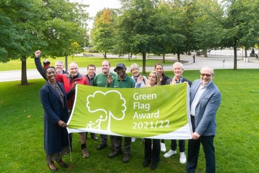 Celebrating Green Flag Award at Jubilee Gardens