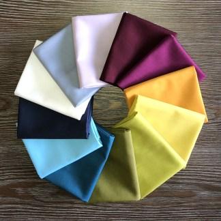 Century Solids by Andover Fabrics Premium Cotton Bellflower Bundle 6 PC