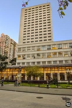 Biblioteca Mário de Andrade - Fachada Torre e Corredor de Vidro - Fotografia: Juca Lopes