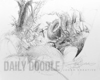 St. George & The Dragon: John Howe Study: Phase 4