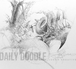 St. George & The Dragon: John Howe Study: Phase 4