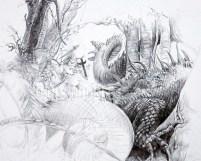 08.21.13 St. George & The Dragon: John Howe Study: Phase 5