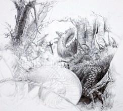 08.21.13 St. George & The Dragon: John Howe Study: Phase 5
