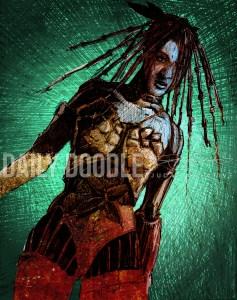 09.05.13 Sci-Fi Gangster Girlfriend: Photoshop Coloring by Judah Fansler – Design Ninja, Artist, Owner at Judah Creative: Graphic Design & Illustration studio near Branson and Springfield, MO.