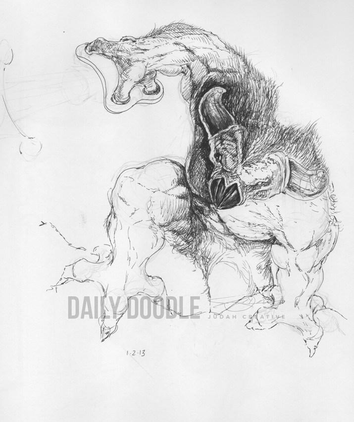 010214 Demon Legend by Judah Fansler, Artist & Owner at Judah Creative, a full service graphic design & Illustration studio near Branson, MO & Springfield, MO