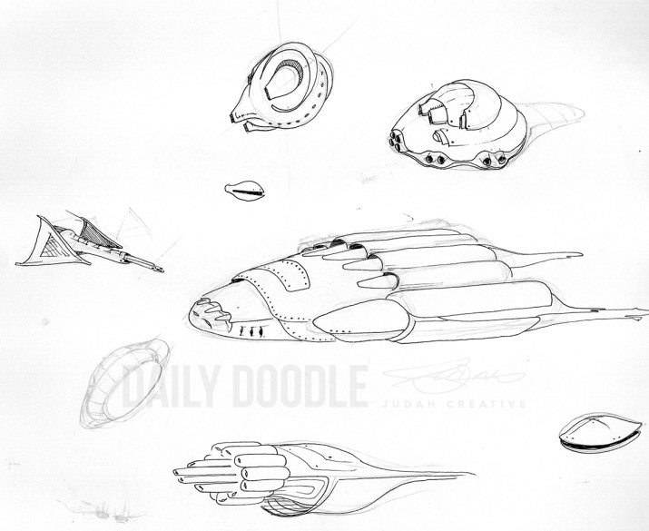 Warship Drone Doodles by Judah Fansler, Artist, Designer, Illustrator at Judah Creative, A full service Graphic Design & Illustration Studio