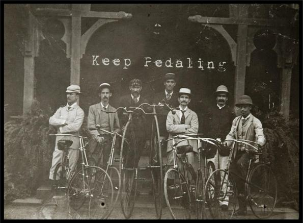 keep pedaling
