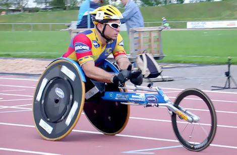 Wheelchair athlete Paul Nunnari.