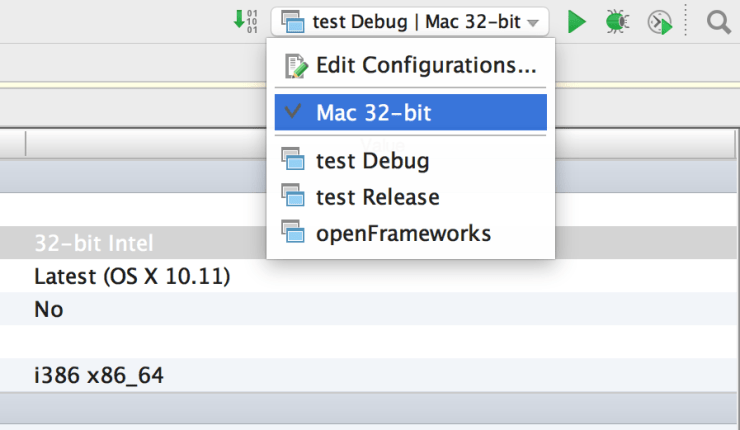Run configurations now say 32 bit. Yay!