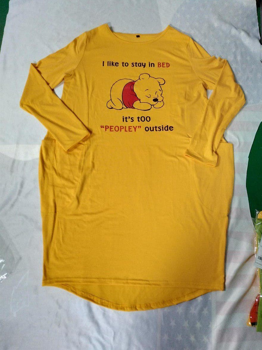 Pooh Peopley Dress For Woman